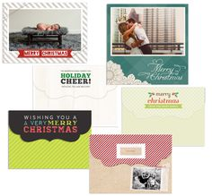 Holiday Card options in our Design Market