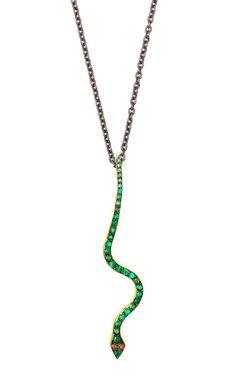 Big Snake Pendant Necklace