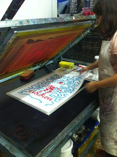 Take screen printing lessons