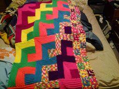 Treasures Made From Yarn: Neon #Crochet Blanket
