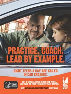 Driver inexperience is a leading cause of teen crashes. Most crashes happen during the first year a teen has a license. Parents help prevent crashes by providing at least 30-50 hours of supervised driving practice over at least 6 months; practicing on a variety of roads, at different times of day, and in varied weather and traffic conditions. This will help your teen gain the skills he or she needs to be safer.  | Parents Are the Key to Safe Teen Driving | CDC Injury Center