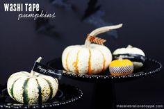 tape pumpkin, tape halloween, halloween pumpkins, pumpkin decor, washi tape