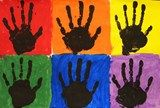 more rainbow hand prints...good for review/teaching primary and secondary colors