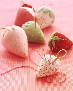 Strawberry Pincushions    Martha Stewart