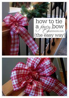 How to Tie a Fancy B
