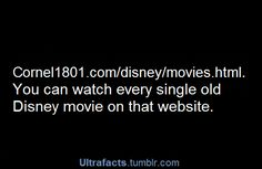All the old Disney movies on one website! Perfect! In love!