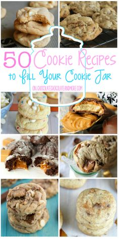 50 Cookie Recipes to Fill Your Cookie Jar | www.chocolatechocolateandmore.com