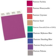 This spring mix and match Radiant Orchid with these Pantone colors. www.ShesSoPoised.com