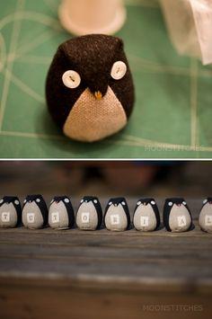 DIY fabric owls