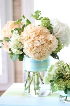 DIY Floral Arrangement Tutorial flower arrang, weddings, flower power, fresh flowers, wedding floral, floral arrangements, diy flower, hydrangeas, diy centerpieces