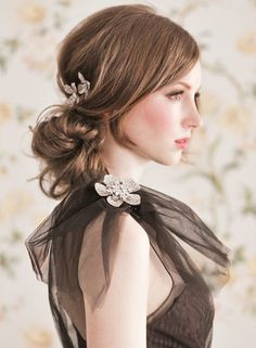Enchanted Atelier 2015 Collection. To see more: http://www.modwedding.com/2014/04/25/enchanted-atelier-wedding-hairstyles/ #wedding #weddings #fashion #hair #hairstyles