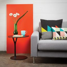 decor, bedroom idea, scandinavian design, graphic prints, cushions, graphic patterns, factories, bright colors, pillows
