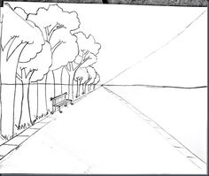 Smart class. One point perspective