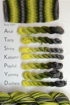 Firefly Self-Striping Yarns