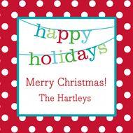 happi holiday, banner happi, gift sticker, holiday gifts, happy holidays