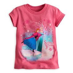 Anna and Elsa Tee for Girls - Frozen - Pink