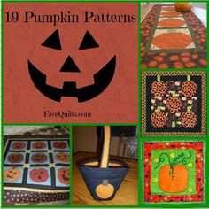 It just won't feel quite like fall until your have some pumpkin patterns in your home. We've got Halloween quilt patterns, and plenty of free quilt patterns with all of your favorite classic fall colors.