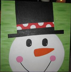 Snowman Painting by OneSaturdayEvening on Etsy, $30.00