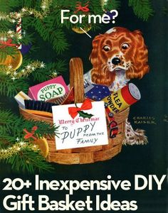 How to beautifully package a DIY gift basket.    Roundup: 20  Inexpensive DIY Gift Basket Ideas We Love