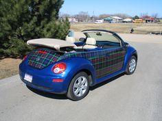 Tartan plaid VW Beetle