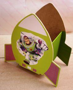 Centro De Mesa De Buzz Light Year Para Fiestas Infantiles