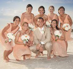 peachfuzz, bridesmaid dresses, beauti bridesmaid, peach fuzz, groom