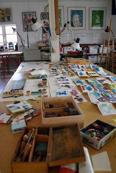 Workspace of Anne-Miek Bibbe