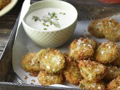 Fried Homemade Pickles With Ranch Dressing
