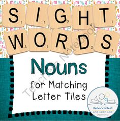 Letter Tiles Sight Words Nouns Templates from Rebecca Reid's Line upon Line Learning on TeachersNotebook.com -  (36 pages)  - Practice recognizing and spelling noun sight words by matching letter tiles to the correct alphabet letters on these template pages.