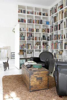 big bookcase design on white house design