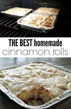 Grandma's Homemade Cinnamon Rolls.  The best cinnamon rolls you will ever eat!