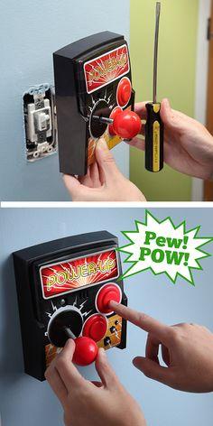 Arcade Light Switch Plate