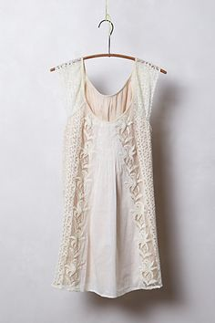 Edelweiss Tulle Tunic #anthropologie lace mixed fabric blouse top