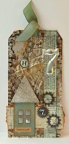 geinspireerd door Tim Holtz 12 tags of 2012 - september