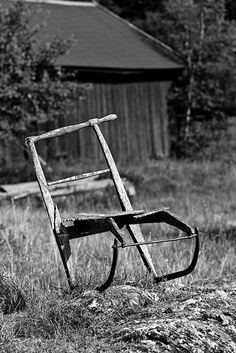 """Stockholm Archipelago. The kicksled or spark is a small sled consisting of a chair mounted on a pair of flexible metal runners which extend backward to about twice the chair's length. The sled is propelled by kicking (""""sparke"""" or """"sparka"""" in the Scandinavian languages) the ground by foot. There is a handlebar attached to the top of the chair back. """"Kicksled"""" is a direct translation of the Finnish word """"potkukelkka"""". Some other possible translations are """"kicker"""" and """"chair-sled""""."""