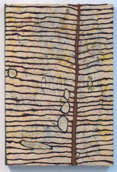 "Tracye Wear   Yellow Leaf, 2012   encaustic and oil stick, 30""x20"" /sm"