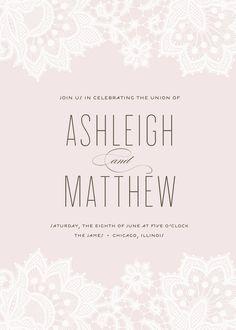 "lace wedding invitation - ""Love & Lace"". $96.00, via Etsy."