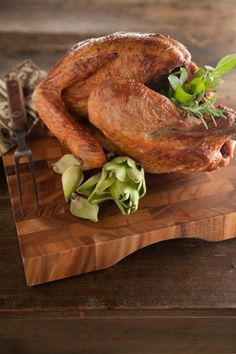 Crispy on the outside. Tender and juicy on the inside. This year, try a deep fried turkey. #thanksgiving #recipe