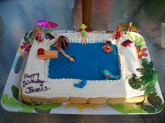 Jamie's Bday Cake 2011.  Pool Party Cake