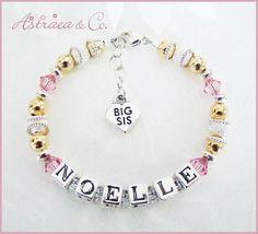 Custom Child's Name Bracelet  Big Sister Gift  by AstraeaCo