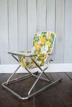 SALE...Vintage Child's Lawn Chair / Groovy 1970's by mollyannemake, $58.00