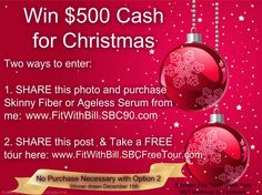 WIN $500 CASH FOR CHRISTMAS. Learn more here: http://tinyurl.com/l3a4hs7
