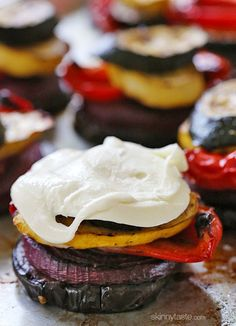 Grilled Veggie Towers with Mozzarella
