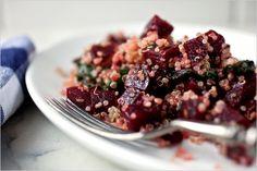 quinoa and beet pilaf.