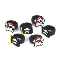 Pirate Rubber Ring (Bulk Pack of 12 Rings) at theBIGzoo.com, a family-owned gift shop with 12,000+ animal-themed items.
