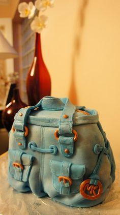 Michael Kors bag fondant cake (early attempt)