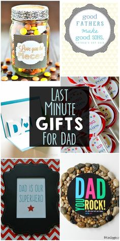 Last Minute Gifts for Dad - a collection of easy gifts for Father's Day on { lilluna.com }