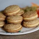 Pumpkin-filled Snickerdoodle Sandwich Cookies
