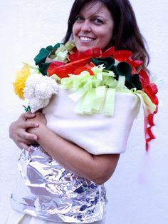 burrito costum, spici burrito, homemade halloween costumes