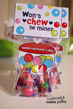 If I had kids, I do this for VDay.  Gumball Love Craft SET Fold over Valentine Card Craft Digital Printable U PRINT. $3.50, via Etsy.
